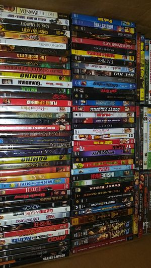 120 movies for $100 must take all. TODAY. Must go. Some brand new in package. for Sale in Irving, TX