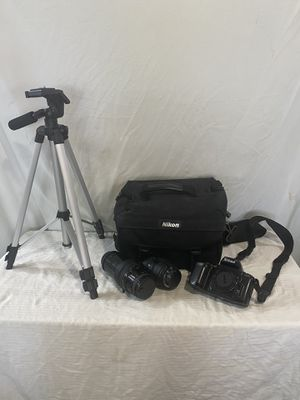Nikon N6006 FILM camera, 2 zoom lenses, Nikon camera bag, tripod. for Sale in BROOKSIDE VL, TX