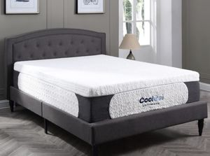 6. Classic Brands Cool Gel 1.0 Ultimate Gel Memory Foam 14-Inch Mattress with BONUS Pillow , Full, White. for Sale in Worthington, OH