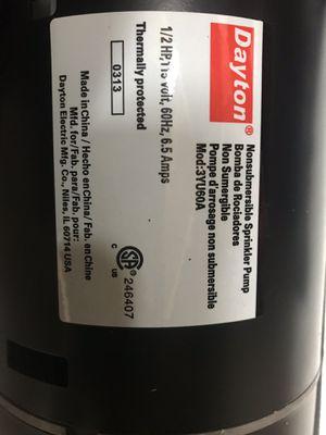 Sprinkler pump Dayton for Sale in Denver, CO