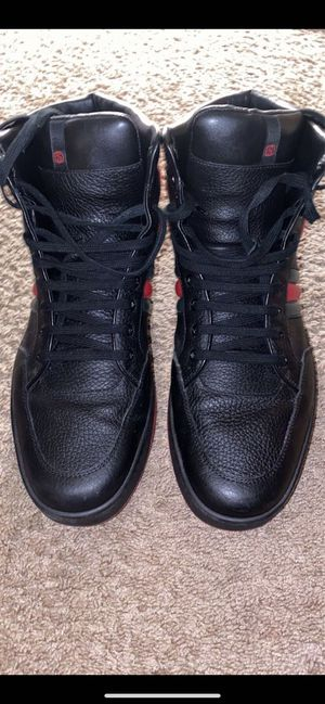 Gucci hightop shoes size 12 for Sale in Washington Township, NJ