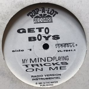Geto Boys - My Mind Playing Tricks On Me (12-inch Vinyl Record) Single for Sale in Corona, CA