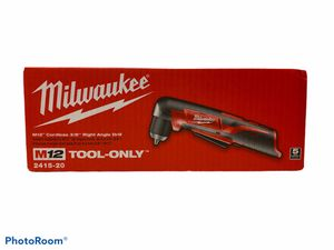 """Milwaukee M12 12V 2415-20 right angle 3/8 """"variable speed drill (New tool only) for Sale in San Dimas, CA"""
