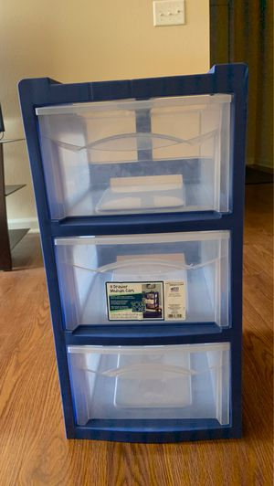 Clear plastic drawers for Sale in Prince George, VA