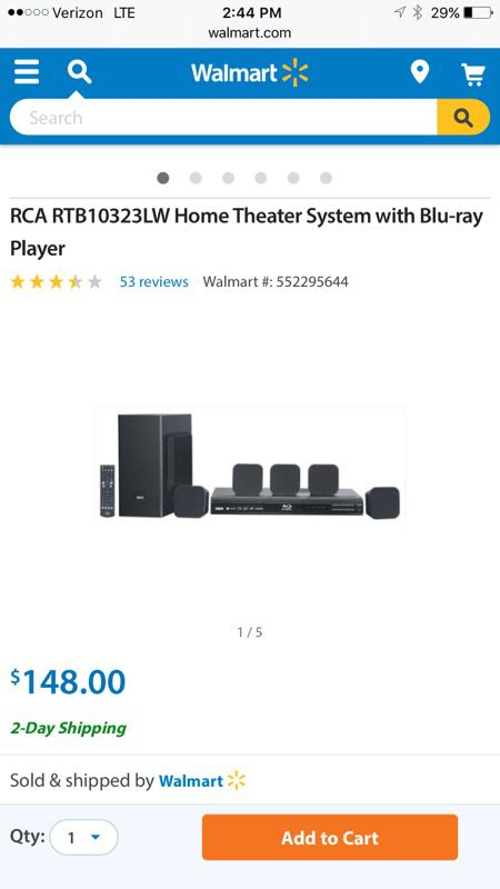 RCA Bluetooth Blu-ray players and home theater system