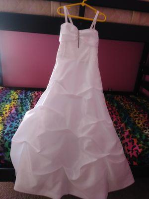 Fancy white dress. Girls size 10 for Sale in Orlando, FL