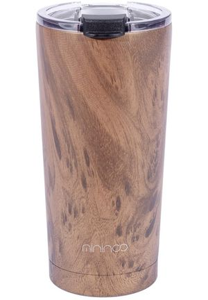 20oz Tumbler,Stainless Steel Vacuum Insulated Coffee Travel Mug with Flip Lid and Straw,Double Wall Coffee Cup Flask-Wood Grain for Sale in Chicago, IL