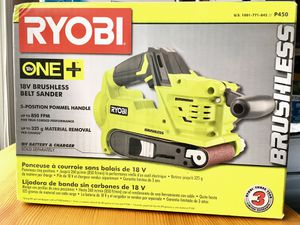 New Ryobi P450 18V 18-Volt ONE+ Cordless Brushless Motor Belt Sander, heavy-duty for Sale in Chapel Hill, NC