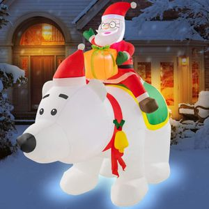 Inflatable Blow up Santa Claus Riding The Polar Bear Holiday Decor for Sale in Henderson, NV