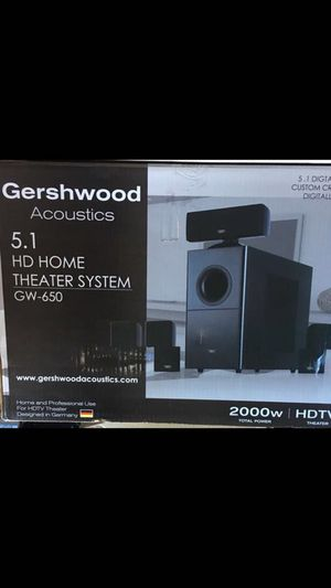 Gershwood Acoustics 5.1 HDTV 2000 watt surround sound system with Marantz Amp Receiver Negotiable for Sale in Bronx, NY