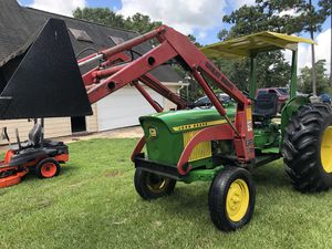 1020 johndeer diesel tractor with loader and mower for Sale in Hockley, TX