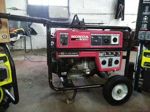 Eb5000 Honda generator for Sale in Baltimore, MD