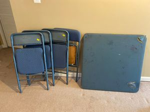 Card table with four chairs for Sale in Dumfries, VA