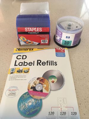 CD label and cases & DVR discs- lot for Sale in Gilbert, AZ