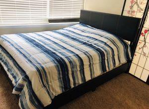 Brand New Full Size Leather Platform Bed Frame ONLY for Sale in Lanham, MD
