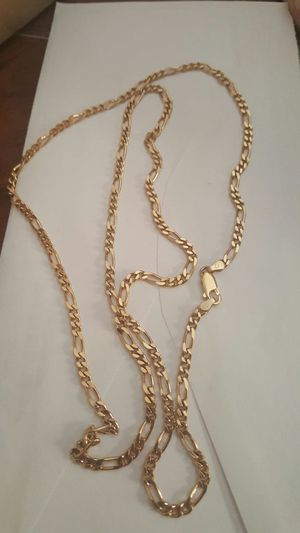 """14k gold over sterling silver Italy chain 30"""" for Sale in Severn, MD"""