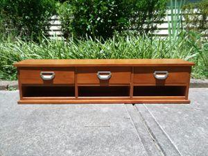 3 Drawer Storage Cubby Shelf Desk Card Catalog Organizer for Sale in Cary, NC