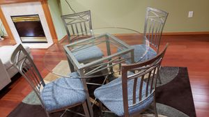 Glass table and 4 chairs for Sale in Sammamish, WA