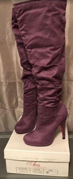 Women's Knee Boots (Purple) SZ 5.5 for Sale in Phoenix, AZ