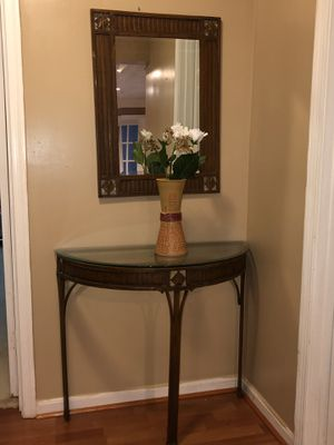 Table and Mirror Set for Sale in Silver Spring, MD
