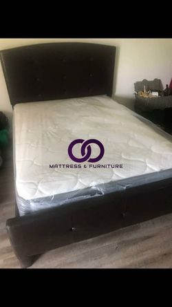 QUEEN MATTRESS BED PILLOW TOP COMFORT FREE BOX SPRING 🎗️Mattress&Furniture🎗️ QUEEN FULL KING TWIN 🎗️ COLCHONES NUEVOS Y CAMAS for Sale in Miramar,  FL