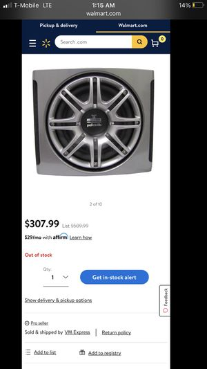 Polkaudio subwoofer with box enclosure for Sale in Fullerton, CA