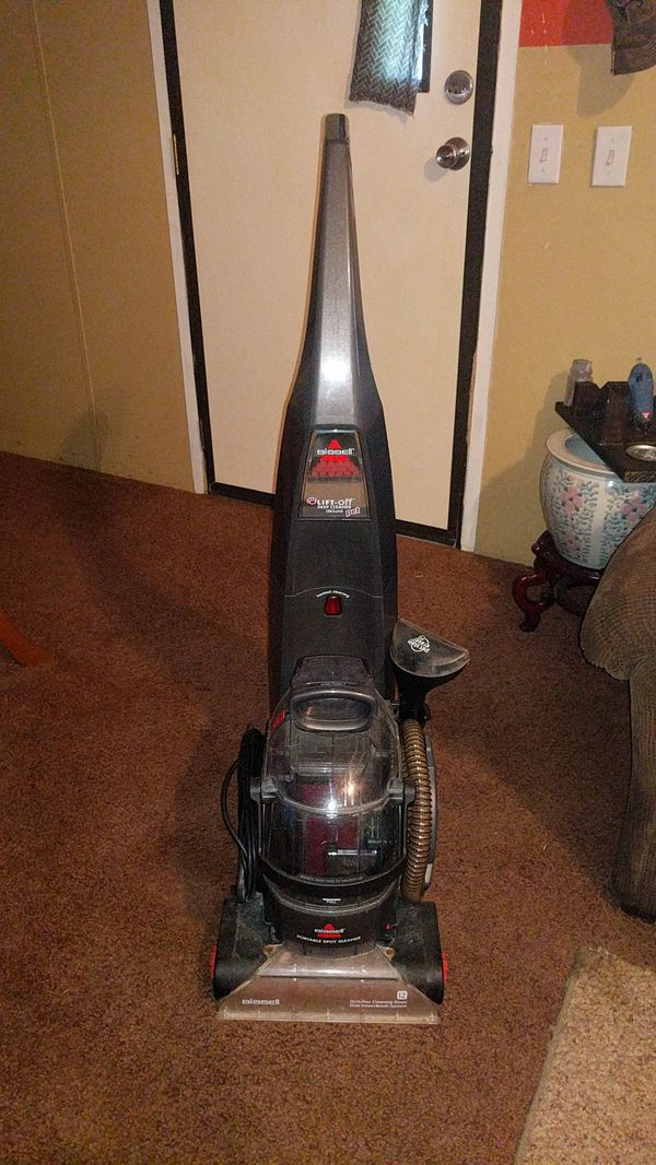 Bissel carpet shampooer with heat and lift-off deep cleaner