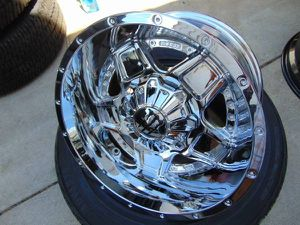 Brand New 18X10 Chrome Monster Rims *5X5*5X5.5* *-25MM Offset* for Sale in Aurora, CO