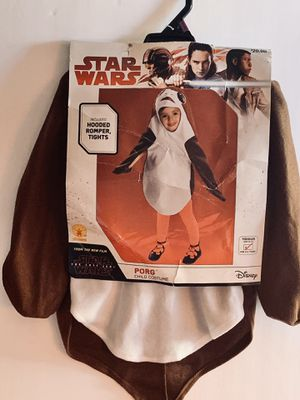 Adorable Star Wars Disney PORG child's Halloween costume size 2t-3t Brand new for Sale in Marion, OH