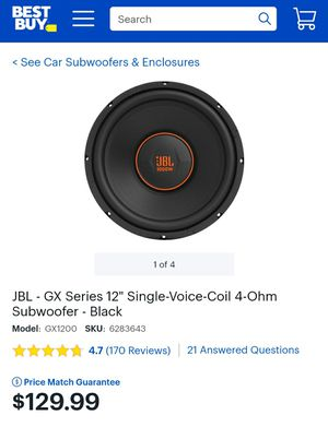 JBL 12 inch subwoofer 1000W Brand New for Sale in Longmont, CO