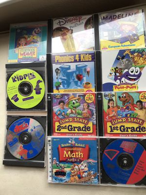 Vintage children's CD ROMs, five dollars each for Sale in Gilroy, CA