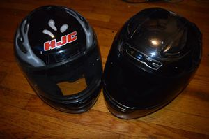 2 VERY Rare Motorcycle Helmet DOT approved Chrome AND Dragon HJC KBC for Sale in New York, NY
