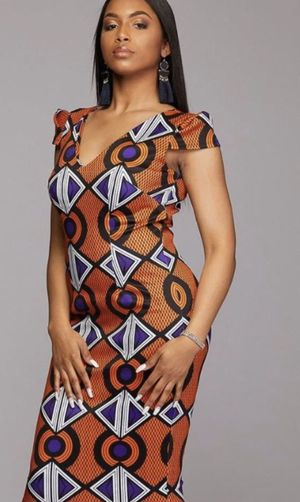 African print stretch dress w tags for Sale in Miami Shores, FL