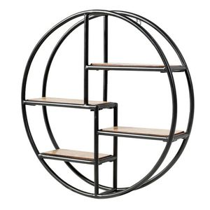 Hanging Storage Shelf Round Circular Wall-Mounted 4-Tier Rack Room Decoration for Sale in Ontario, CA