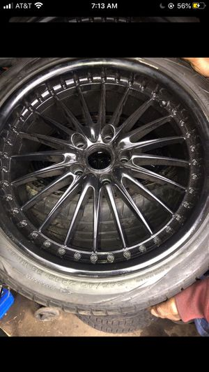 Black rims 245/40zr 19 98 w come take today no questions ask for Sale in Hartford, CT