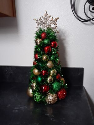 Hand made Christmas Tree table decoration for Sale in Tarpon Springs, FL