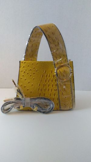 Yellow Croc/Ostrich Buckle Top Handle Messenger Bag for Sale in Atlanta, GA