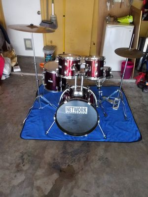 BEAUTIFUL (NETWORK PERCUSSION) 18-12-12-10-8.... HI HAT- AN 20 RIDE TAMA for Sale in Haltom City, TX