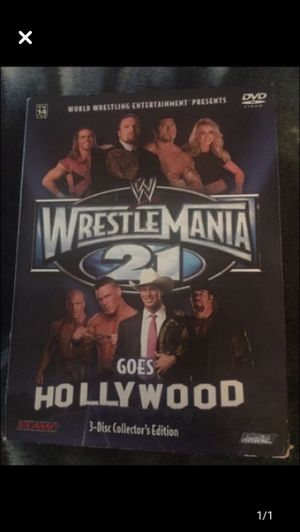 2005 WrestleMania 21 Goes Hollywood - 3 discs for Sale in Milnesville, PA
