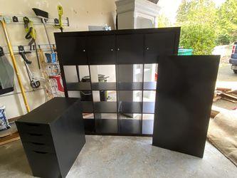 IKEA - Desk, Bookshelf And Drawer Combo. for Sale in Burien,  WA