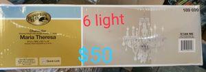 6 light acrylic crystal chandelier for Sale in Bakersfield, CA