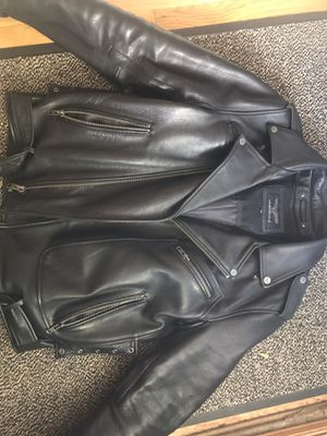 Wilson leather motorcycle biker jacket for Sale in Brookfield, IL