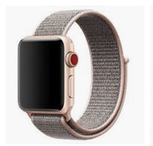 Apple Watch series 3 w/ gps+cellular, charger and box included. rose gold Nylon band (as shown in pic) for Sale in Rockville, MD