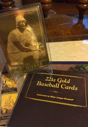 22 karat gold filled Negro baseball card authorized by MLB for Sale in Sterling Heights, MI