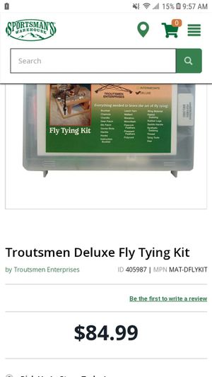 Troutman Deluxe fly tying kit for Sale in Albuquerque, NM