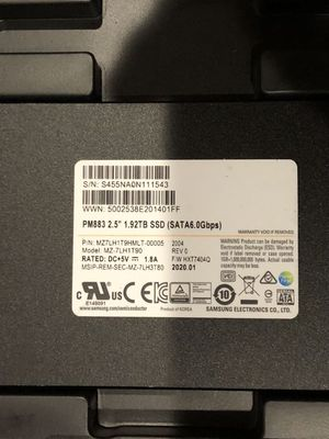 Samsung PM883 SSD 1.92TB for Enterprise-Level , brand New $220 each for Sale in San Leandro, CA