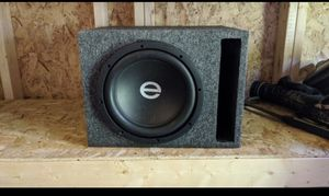 10 inch Elf audio dual 4 ohm subwoofer in brand new slotport box with amp for Sale in LaFayette, GA