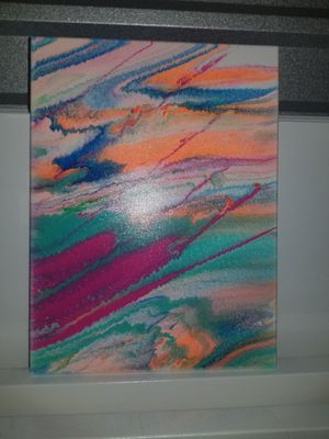 Abstract Painting, 12 × 16, Acrylic on canvas for Sale in Sugar Land, TX