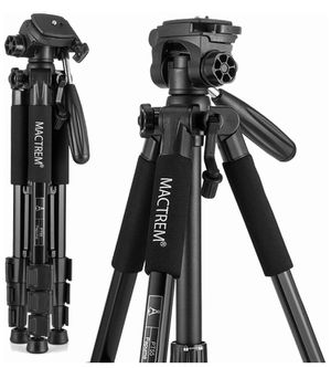NEW MACTREM M-PT55-Bk PT55 Travel Camera Tripod Lightweight Aluminum for DSLR SLR Canon Nikon Sony Olympus DV with Carry Bag -11 Lbs(5Kg) Load (Black) for Sale in Rancho Cucamonga, CA