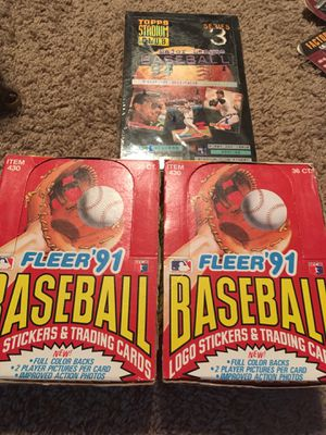 Baseball cards Packs boxes for Sale in North Olmsted, OH